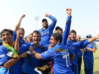 Afghanistan players celebrate. ICC