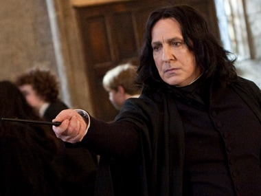 Alan Rickman in Harry Potter. Screengrab from YouTube