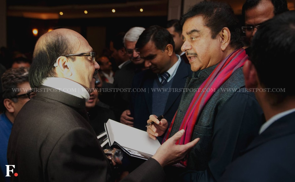Amar Singh in conversation with Shatrughan Sinha at the book launch. Naresh Sharma/Firstpost