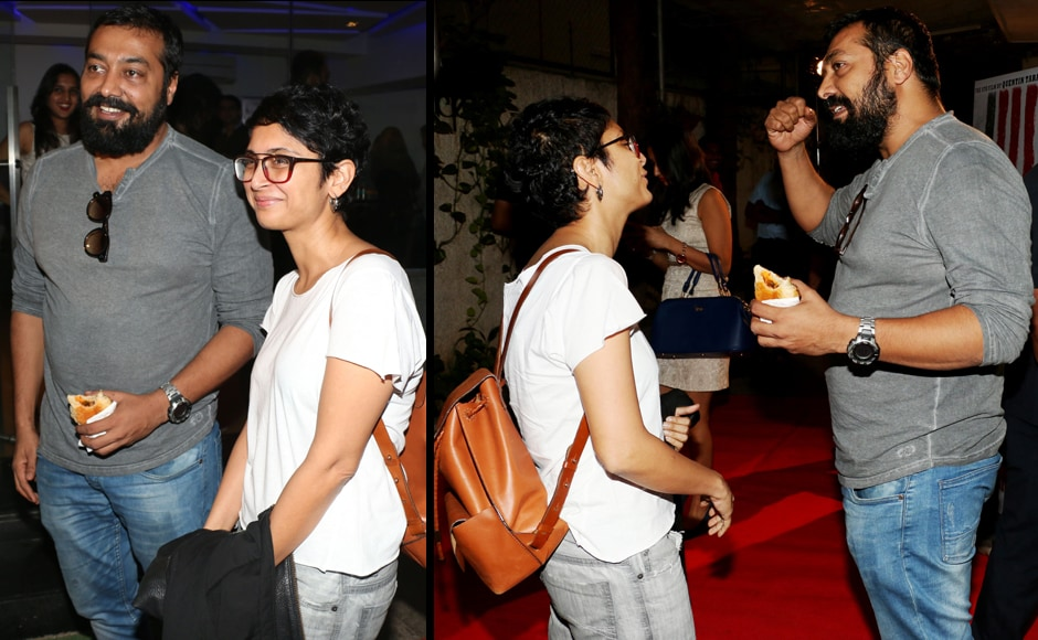 Anurag Kashyap, and Kiran Rao share a moment before the screening. Firstpost