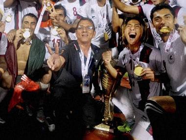 Mohun Bagan celebrate winning I-League 2015. PTI