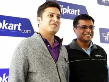 Binny Bansal (left) and Sachin Bansal