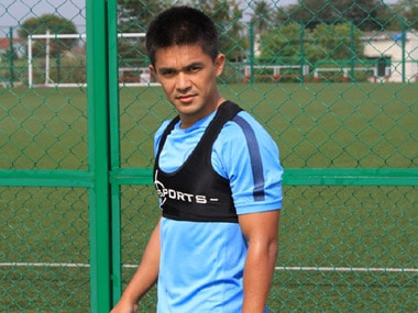 India captain Sunil Chhetri. AIFF