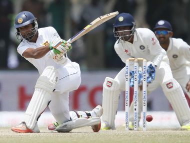 Dinesh Chandimal played a stunning counterattacking innings against India in Galle. Reuters