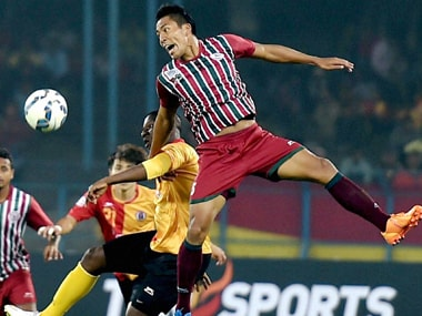 Players of Mohun Bagan and East Bengal in action during I-League match at Salt Lake Stadium in Kolkata. PTI