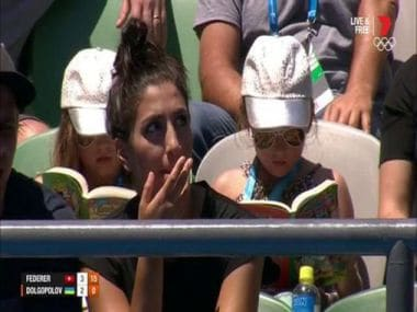 Roger Federer's kids more interested in reading than their dad playing tennis. Image Credit: Twitter @Just_One_Note