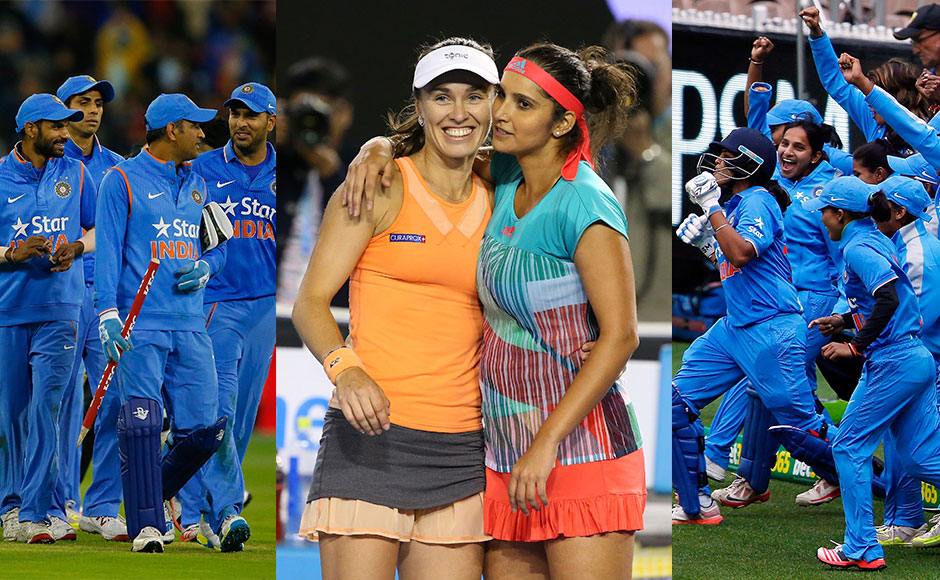 India emerged on top Down Under on Friday as the women's and men's cricket team won T20 series against the Aussies adn tennis star Sania Mirza won the women's doubles crown with Martina Hingis at the Australian Open. Getty Images