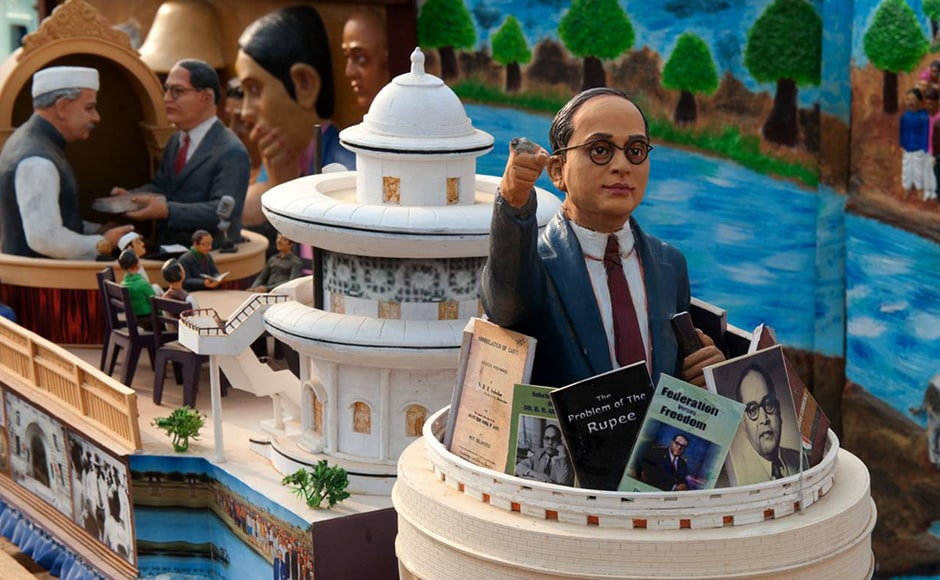 This float marks the contribution of Dr Babasaheb Ambedkar towards the nation. Ambedkar is called the architect of the Indian Constitution. The Constitution went into effect on 26 January, 1950, making India a Republic. Firstpost/Naresh Sharma