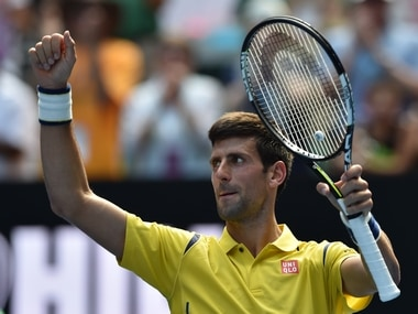Novak Djokovic after his first round win at the Australian Open. AFP