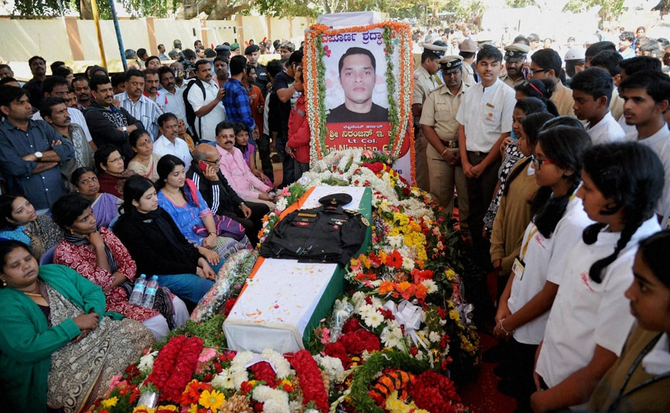 A martyr's final journey: Lt Col Niranjan Kumar laid to ...