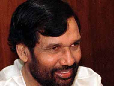 File image of Union minister Ram Vilas Paswan. Reuters