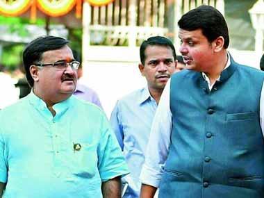 Prakash Mehta and Devendra Fadnavis in a file photo. PTI