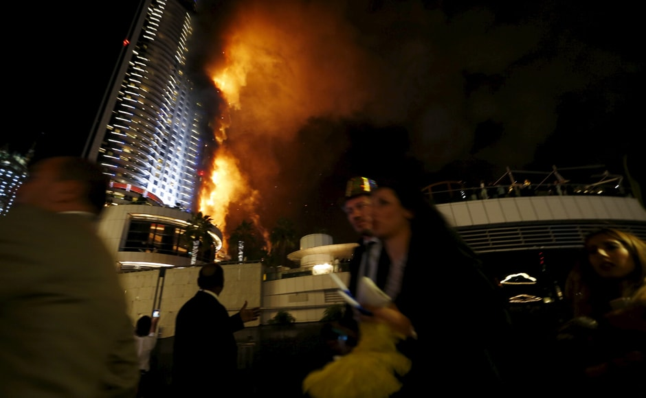 The Address Downtown hotel, which is a few blocks from the iconic Burj Khalifa, the world's tallest tower, was engulfed in flames across several floors as sirens wailed and helicopters hovered overhead. Reuters