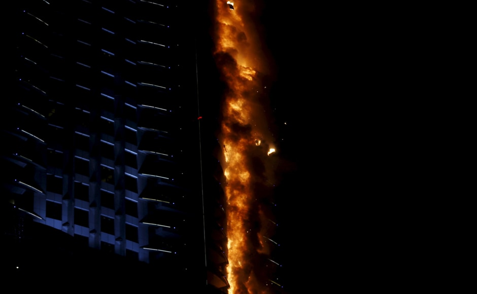The cause of the fire was unknown and it a long time to extinguish, said Dubai police sources. Reuters