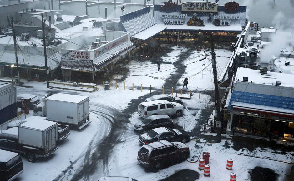 Cities like New York issued a travel ban for cars. Reuters.