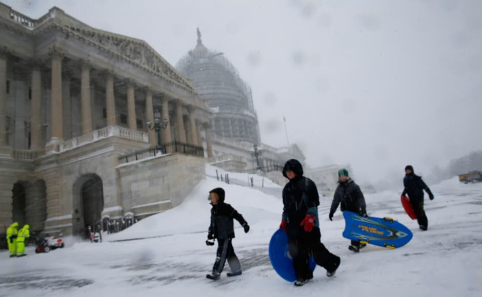 Thousands of people have been left without power across the US. Reuters