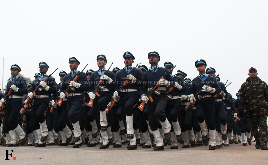 Air Force personnel during the rehearsal in New Delhi. Naresh Sharma/Firstpost