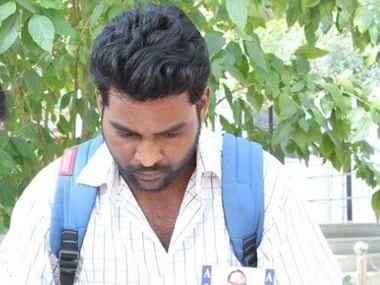 Rohith Vemula in a file photo. Image courtesy: Vemula's Facebook page
