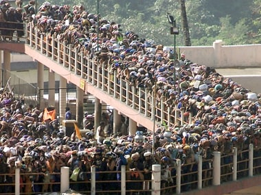 Devotees at the Sabarimala temple. Reuters