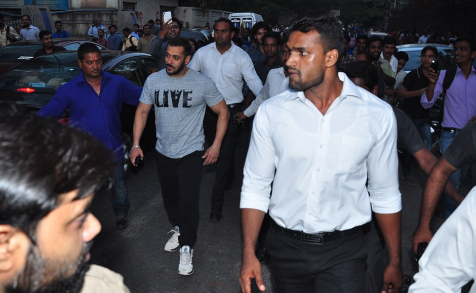 Just like his T-shirt indicates, Salman Khan is seen living the normal life. (or so he wishes) Firstpost