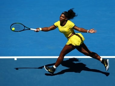 Serena Williams in action in the second round of the Australian Open. Getty