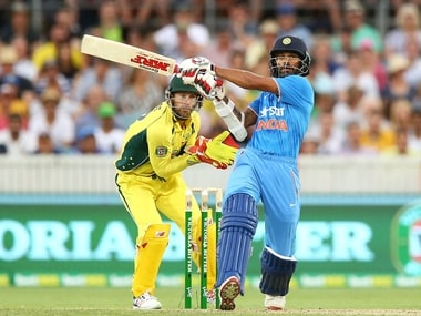 Shikhar Dhawan hit a brilliant century in Canberra ODI, but India fell short in the chase. Getty