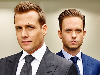 Gabriel Macht and Patrick J Adams in Suits.