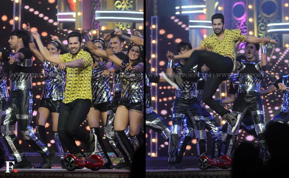 Varun Dhawan regales the audiences with his high-octane dance number. Sachin Gokhale/Firstpost