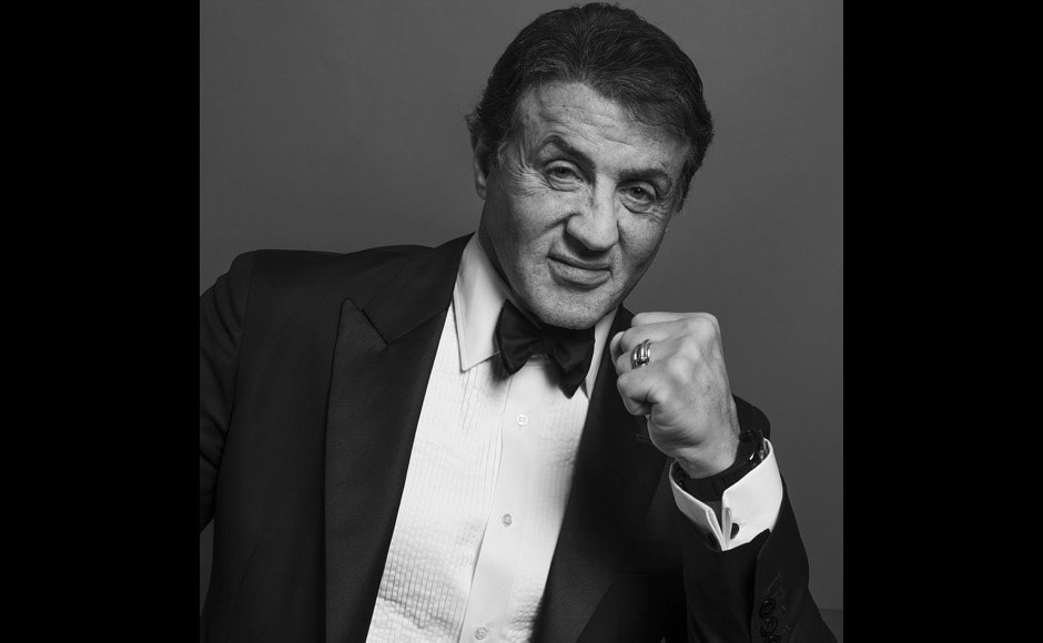 "Sylvester Stallone poses for the official photo. ""Sylvester Stallone (@officialslystallone), Best Performance By An Actor In A Supporting Role - Motion Picture for ""Creed"", said the Golden Globes official handle. Image courtesy: @goldenglobes/Instagram"
