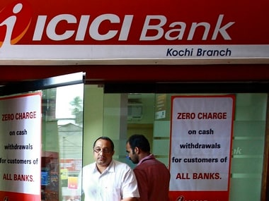 A man leaves an automated teller machine (ATM) facility of ICICI bank in the southern Indian city of Kochi August 6, 2009. REUTERS/Sivaram V (INDIA BUSINESS)