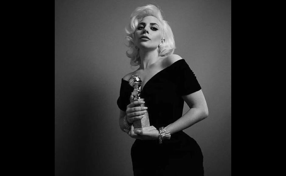 "Move over quirky Gaga, this elegant one has our hearts. ""Lady Gaga, Best Performance By An Actress In A Limited Series Or Motion Picture Made For Television for ""American Horror Story: Hotel,"" Golden Globes put out this official winner's photo on Instagram. Image courtesy: @goldenglobes/Instagram"