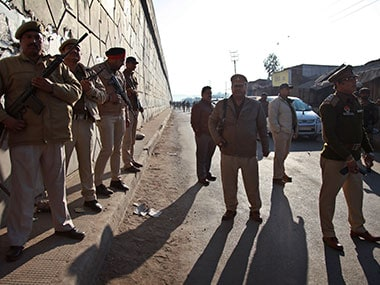Security forces in Pathankot. AP