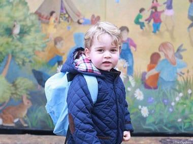 Prince George on his first day of school. Image Credit: Twitter @kensingtonroya