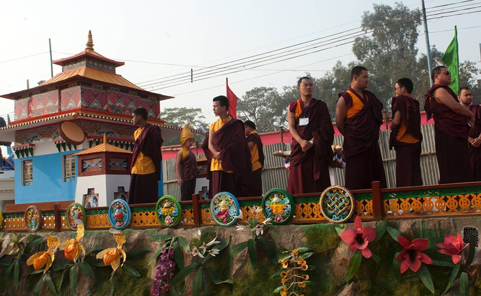 Monks and monasteries are the focus of Sikkim's float. Sikkim was recently declared to be India's first fully organic state. Firstpost/Naresh Sharma