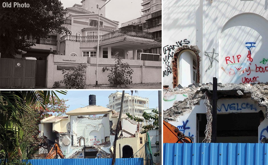 The Bollywood veteran Rajesh Khanna's Carter Road bungalow, popularly known as Aashirwad, was demolished by its new owner, Shashi Shetty, executive chairman of Mumbai-headquartered Allcargo Logistics, on Friday. Sachin Gokhale/Firstpost