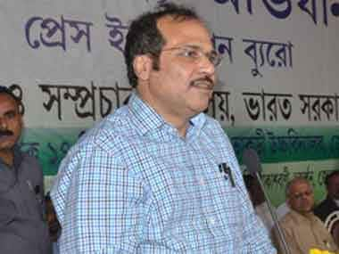 Congress MP Adhir Ranjan Chowdhury. Image courtesy PIB