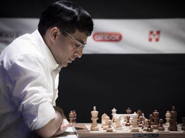 File photo of Vishy Anand. AFP