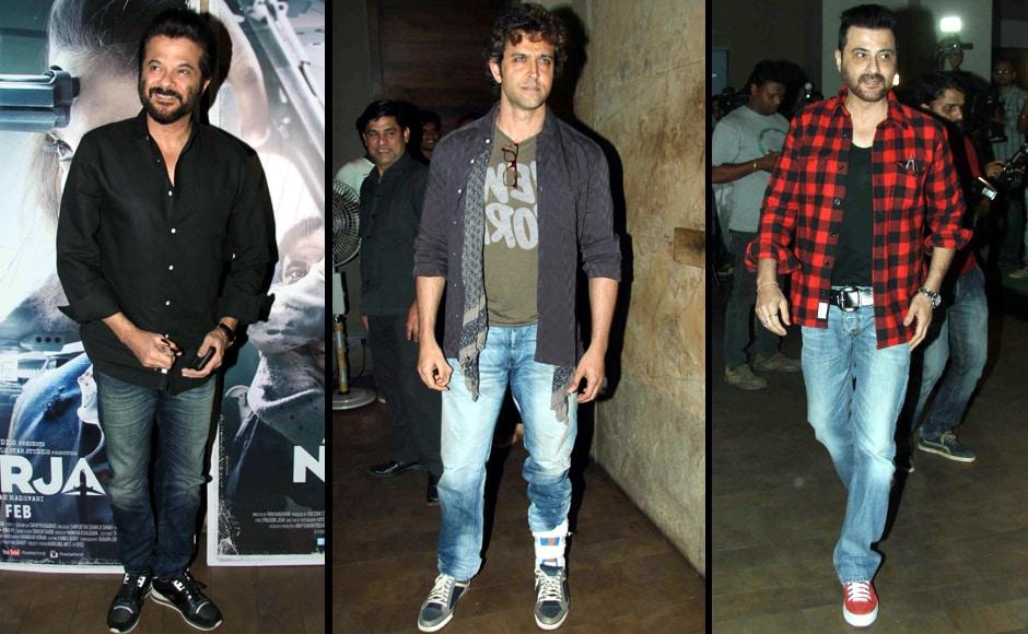 Anil Kapoor, Hrithik Roshan and Sanjay Kapoor. Firstpost