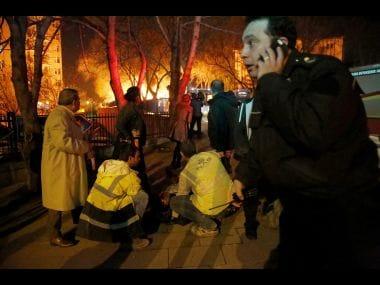 Blast in Turkey's capital, Ankara. AFP