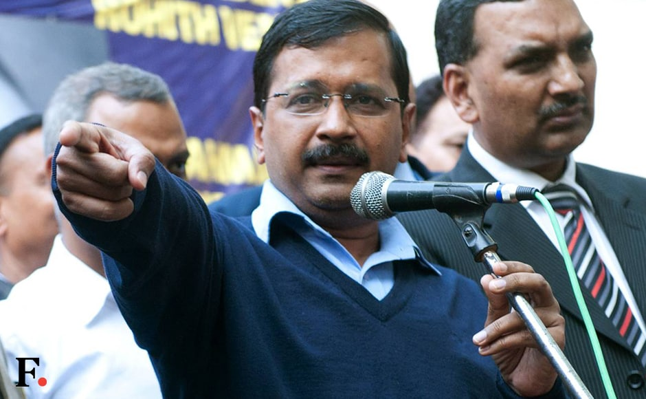 Arvind Kejriwal speaks at Jantar Mantar at the end of a protest march organised to show solidarity for the students of Jawaharlal Nehru University who have been fighting for the right to free speech. Hundreds of students from University of Hyderabad and Osmania University, and students from universities in the national capital, such as Jawaharlal Nehru University, Delhi University, Jamia Milia and Ambedkar University began their march at Ambedkar Bhawan in central Delhi's Jandewalan. Naresh Sharma/Firstpost