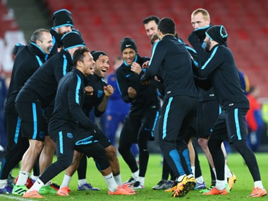 FC Barcelona in training. Getty