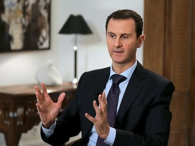 Syrian President Bashar al-Assad during an exclusive interview with AFP in Damascus. AFP