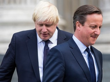 Boris Johnson and David Cameron. AFP