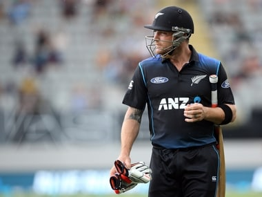 Brendon McCullum after being dismissed in his last ODI. AFP