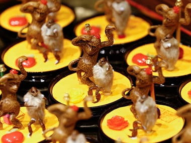 The Chinese Year of the Monkey begins 8 February. EPA/Rolex Dela Pena