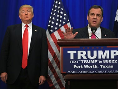 File photo of Chris Christie and Donald Trump. Getty Images