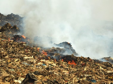 The fire at Deonar. Solaris images