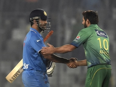 PCB Chief Selector Haroon Rashid thinks Pakistan can make it to the final and upset India. AFP