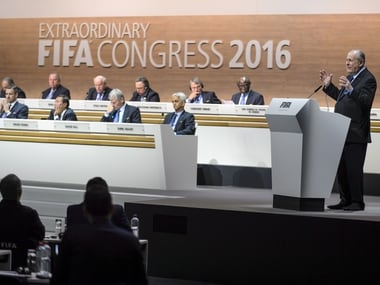 Members passed reforms at the Fifa Electoral Congress. AFP