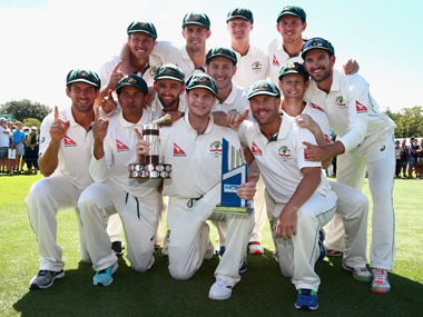 Australia needed only a draw to win the two-match series and reclaim from India the top test ranking. Getty Images